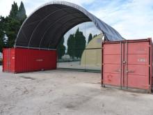 Snabbt ny förvaringsplats när tält kombineras med containrar