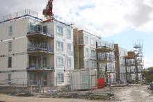Halvtid för bygget av Kvibergs Terrasser