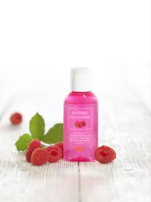 DAX Alcogel Sweet Raspberry håller händerna rena i höst
