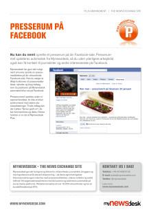Produktblad Presserum på Facebook