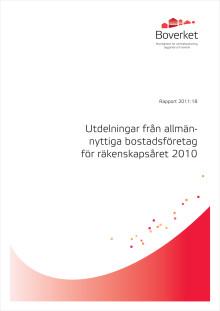 Boverkets rapport om utdelningar från allmännyttiga bostadsföretag 2010