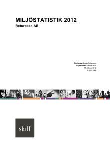 Skill-rapport Miljöstatistik 2012