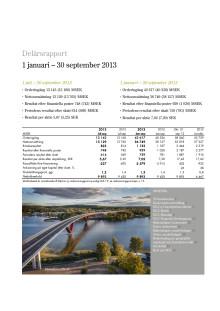 Delårsrapport 1 januari – 30 september 2013