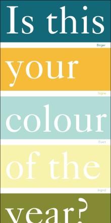 Bestäm själv årets trendfärg i badrummet