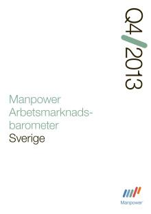 Manpower Arbetsmarknadsbarometer kvartal 4, 2013