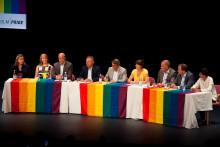 Partiledardebatt sista dagen på Pride House