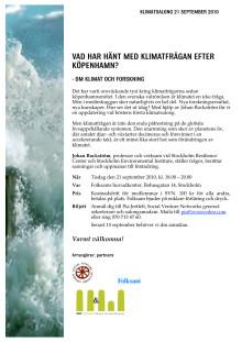Inbjudan till Klimatsalong 21/9 kl 18.00 hos Folksam