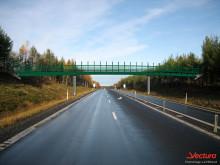 Fotomontage: Viltbro över E4 mellan Harrioja och Salmis. Vectura/Leif Wiklund