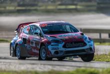 Kevin Eriksson tog andra raka RallyX-segern i Strängnäs