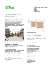 Informationsbrev om gator kring badhuset Navet