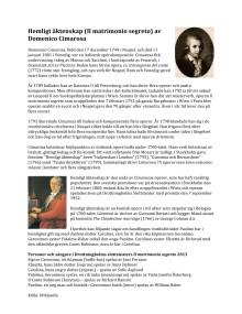 Läs mer om Domenico Cimarosa och operan Hemligt äktenskap