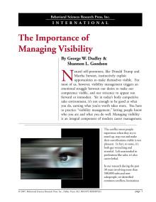 Att hantera sitt Visibility Management