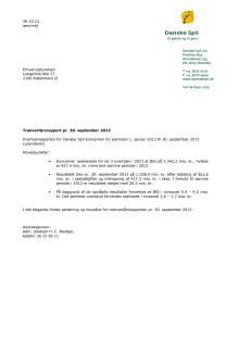 Kvartalsrapport, oktober 2013