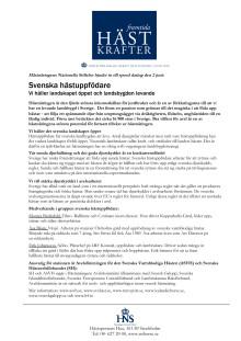 Svenska hästuppfödare - speed dating den 2 juni