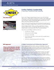 BTS Group AB Customer Case Study - Linfox