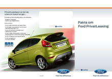 Fakta om Ford privatleasing