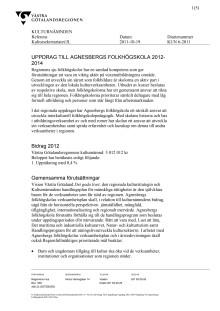 Västra Götalandsregionens kulturnämnds uppdrag 2012-2014