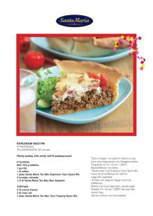 Recept Explosion Taco Pie