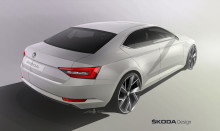 Designskiss – nya SKODA Superb