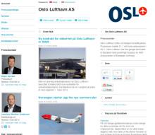 Oslo Lufthavn AS inngår samarbeid med Mynewsdesk