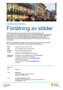 Program - Förtätning av städer – vilka är utmaningarna?