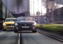 Täysin uusi Ford Mustang kiihtyy nollasta sataan alle viidessä sekunnissa; uutta Mustangia on tilattu Euroopassa jo 2 200 kappaletta