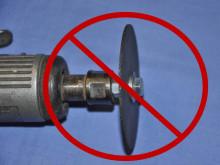 Kapskivor och raka slipmaskiner – en farlig kombination !