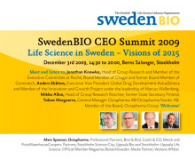 SwedenBIO CEO Summit Dec. 3rd 2009, Berns Salonger in Stockholm