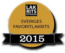 Här är finalisterna i Sveriges favoritlakrits 2015