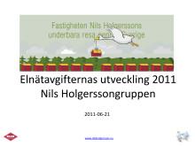 Elnätavgifternas utveckling 2011HolgerssonElnätavgifternas utveckling 2011Nils Holgerssongruppen