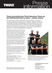 Thule unterstützt das Thule Adventure Team um den Weltmeistertitel zu holen – wieder einmal.