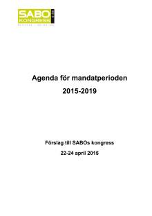SABOs Agenda 2015-2020