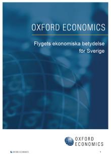 """Presslunch - Lansering av rapporten """"Flygets ekonomiska betydelse för Sverige"""" 24 oktober på Arlanda"""