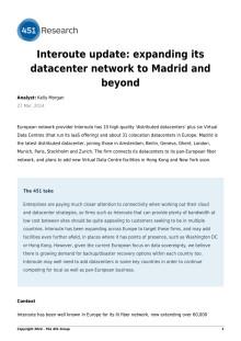 Interoute utökar sin datacenter nätverk till Madrid