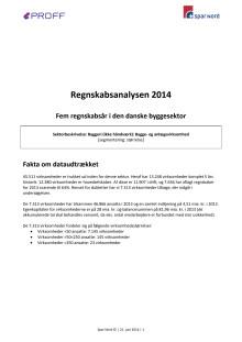 Regnskabsanalysen 2014 - 5 år i den danske byggesektor