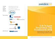 Program Life Science Investment Day Scandinavia March 9, 2009