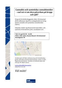 Program Cannabiskonferens 150422