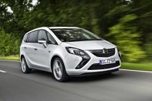 Opel Zafira Tourer återigen den mest miljövänliga MPV-modellen