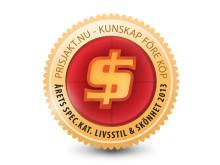Stayhard.se tar emot pris av Prisjakt för Årets Specialkategori 2013.