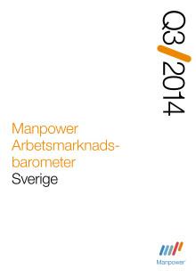 Rapport Manpower Arbetsmarknadsbarometer kvartal 3 2014