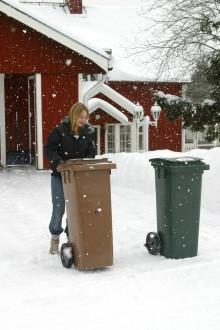 Kompostpåsarna kan frysa fast