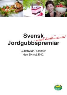 Pressmapp Jordgubbspremiär 2012-05-30