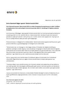 Eniro DK kvartalsrapport Q1 2014