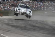 Per Eklund till RallyX i Arvika med sin VW Beetle