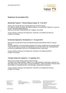 Tyska Turistbyråns pressresor 2013