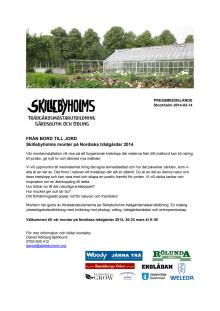Skillebyholm på Nordiska Trädgårdar 2014