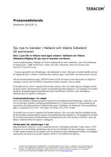 Sju nya tv-kanaler i Halland och Västra Götaland till sommaren