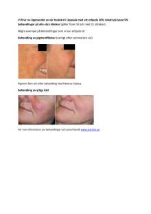 Laserbehandlingar - före och efter bilder
