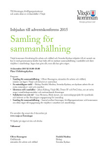 Program Adventskonferensen 2015