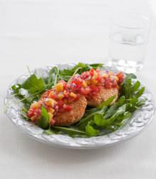 Itrim-recept: Laxbiff med sesamfrön och het mangosalsa